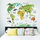 YYY Wall D?cor Stickers Animal World Map Removable Art Sticker (Animal World Map)