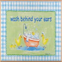 The Kids Room by Stupell Wash Behind Your Ears Ducks in the Bathtub Oval Wall Plaque