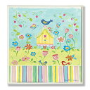 The Kids Room by Stupell Yellow Birdhouse with Stripes Rectangle Wall Plaque