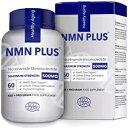 NMN PLUS 60 Count (Pack of 1), Maximum Strength NMN Capsules, 500mg, Naturally Boost NAD Levels for Mental Performance Anti Aging Supplement(60 Count(Pack of 1)