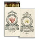 My Swanky Home Antique Style British Seaweed Coral Coastal Matches Set10 Graphic Long Fireplace
