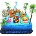 Cake Toppers Dinosaur Train Birthday Cake Topper Set Featuring Dinosaur Train Friends and Decorative Themed Accessories