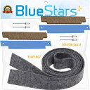 BlueStars Ultra Durable 33001807 & 306508 Dryer Drum Felt Seal With Tumbler Bearing Kit by Blue Stars - Exact Fit for Whirlpoo..