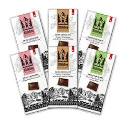 Milkboy Swiss Chocolates Variety Pack of Dark Chocolate Bars Holiday Special Pack (6 Pack)