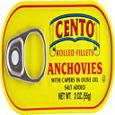 Cento Rolled Fillet Anchovies with Capers In Olive Oil、2 Ounce(Pack of 25) Cento Rolled Fillet Anchovies with Capers In Olive Oil, 2 Ounce (Pack of 25)
