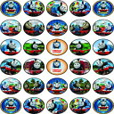 Natural Behaviour 30 x Edible Cupcake Toppers Themed of Thomas The Tank Engine Collection of Edible Cake Decorations | Uncut Edible on Wafer Sheet