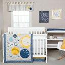 ショッピングマタニティ ワンピース Trend Lab Galaxy 3 Piece Crib Bedding Set, Blue/Gray/Yellow