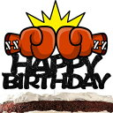 Boxing Happy Birthday Cake Topper Decorations with Wrestle for Birthday Theme Baby Shower Party Decor Supplies