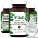 Natural Nutra Vitamin A and D, Sourced from Cod Liver Oil, 10,000IU/400IU, Healthy Bones Supplement, Promotes Strong Teeth and Eyes, Improves Heart and Muscle Function, Immune System, 250 Softgels