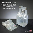 Smart Bottle 1 Gallon Collapsible Water Container with a Standard Cap. The only Double Wall Flexible Container Designed with Handles top and Bottom for Easy Carry. BPA Free.