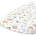 Cuddly Cubs Diaper Changing Table Pad Cover for Baby Girl or Boy   Soft & Breathable 100% Jersey Cotton   Adorable Unisex Woodland Pattern & Fitted Cradle Sheet