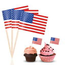 BESTOYARD Flag Picks American Flag Cupcake Toppers for Party Favors Birthday Wedding Baby Shower Food Toothpicks 100 Pcs
