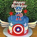 SHAMI Happy birthday cake topper -Cartoon theme Cake Topper for Hero Theme Birthday cartoon Party Decoration Suppliers