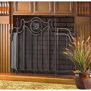 暖炉トスカーナデザインFIREプレイススクリーンスクリーンブラックアイアンメタルメッシュ 25 Home Decor Fireplace Tuscan Design FIRE Place Screen Screens Black Iron Metal Mesh
