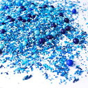SPRINKLE POP 4.0 ounces, Blue Ombre  Boy Baby Shower Gender Reveal Birthday Hannukah Colorful Candy Sprinkles Mix For Baking Edible Cake Decorations Cupcake Toppers Cookie Decorating Ice Cream Toppings, 4OZ