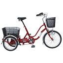 ショッピング20インチ ノーパンク 三輪 自転車 MIMUGO MG-TRW20NE SWING CHARLIE ノーパンク三輪自転車 20インチ三輪自転車 ワインレッド [直送品]