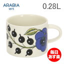 アラビア カップ パラティッシ 280mL 0.28L マグ 食器 調理器具 フィンランド 北欧 柄 贈り物 64 1180 008947 0 Arabia PARATIISI COLORED