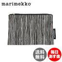 マリメッコ Marimekko ポーチ VARVUNRAITA KEKSI 化粧ポーチ レディース メンズ 043453-190 ブラック×ホワイト white black