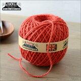 ナッツシーン/NUTSCENE 麻ひも(麻紐)ジュート ミディアムボール 130mトマト色