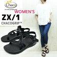 【WOMEN'S】 国内正規品 細身のWストラップが特徴のZX1 CHACO ( チャコ ) Women's ZX/1 (CHACO(チャコ)独自に開発したCHACOGRIPソール ) chaco サンダル【 BLACK 】 ZX1 レディース chaco zx1
