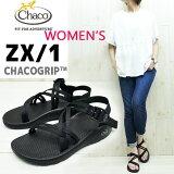 ��WOMEN'S�� ���������� �ٿȤ�W���ȥ�åפ���ħ��ZX1��CHACO ( ���㥳 )��Women's ZX/1 ��CHACO�ʥ��㥳���ȼ��˳�ȯ����CHACOGRIP������ �� chaco���������� BLACK �ۡ�ZX1 ��ǥ����� chaco zx1