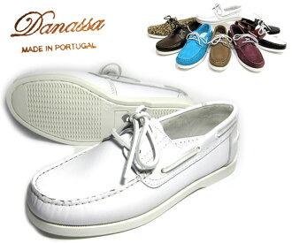 ダナッサデッキシューズ ♪ DANASSA which it is casual at all, and meets from Malin-style of white ♪ adult who is an immediate delivery mast: ダナッサ DECK SHOES: Deck shoes (WHITE leather)