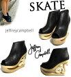 【ご希望でジェフリーキャンベルのソックスプレゼント】歩くアート! Jeffrey Campbell ( ジェフリーキャンベル ) SKATE ( スケート ) ウェッジ サンダル ( ウッドサンダル ) jeffrey campbellのスケートシューズで