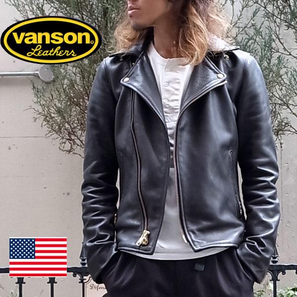 2016秋冬【日本別注】 VANSON バンソン VANSON C2 ライダースジャケット 【ブラック】 vanson ライダース vanson ジャケット バンソン ライダース バンソン ライダース ジャケット