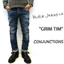 NUDIE JEANS ( ヌーディージーンズ )GRIM TIM グリムティム CONJUCTIONS ( N829 ) 48161-1071nudie jeans grimtim SKU#112586 ユーズド加工 イタリア製