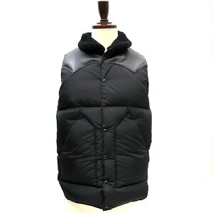 CHRISTY VEST / NYLON 【 神戸 正規店 】ボア付☆ Rocky Mountain Featherbed ロッキーマウンテンフェザーベッド クリスティーベスト【 BLACK 】ロッキーマウンテン メンズ ダウンベスト 450-512-02 200-172-02