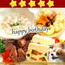 愛犬用 誕生日や特別な日のお祝いやパーティに♪【アニバーサリーセット】手作り 手作り食 手作りご飯 手作りごはん 犬 犬用 誕生日 ケーキ