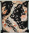 【レンタル】振袖レンタル【黒・茶・グレー系】【RF738】標準/L寸/7号/9号/11号/13号/秋のキャンペーン