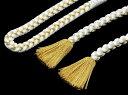 扱いやすい丸組 しかも上質な《正絹白帯締め》金入り:М寸( 14400)「日本製」
