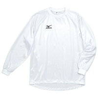 MIZUNO 【45%OFF】ミズノ ゲームシャツ(長袖)(サッカー) ホワイトの画像