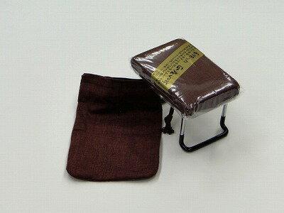 らくらく椅子(正座の補助椅子、座楽) 小 【エンジ系色】(かすり調) (袋付き)