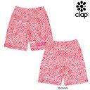 CLAP(クラップ) ZEBRA-PINK(ゼブラピンク) ハーフパンツ|フィットネスウェア|ピンクリボン×ゼブラ色で超オシャレなフィットネスウェア