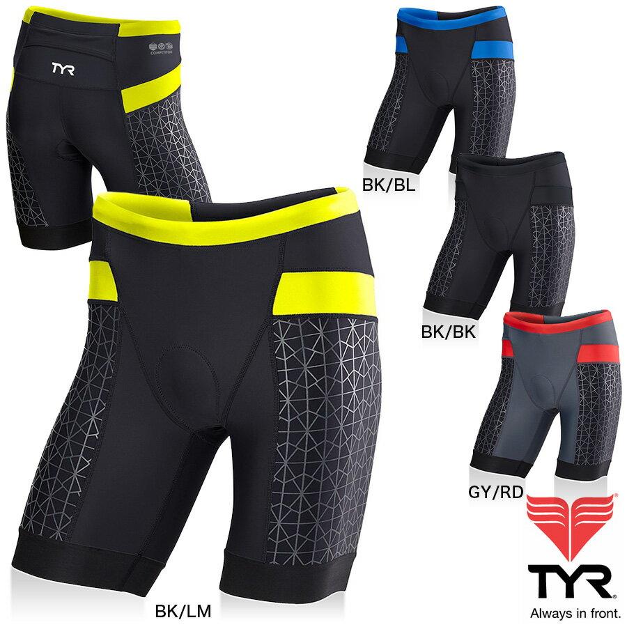 TYR(ティア) コンペティター TRI 9インチ丈ショーツ(トライアスロン用パンツ)TYRで一番人気のCOMPETITORシリーズ