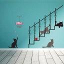 ウォールステッカー 階段の猫 ウォールシール ウォールペーパー インテリアステッカー インテリアシール おしゃれ 北欧