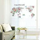ウォールステッカー 世界地図1 ウォールシール ウォールペーパー インテリアステッカー インテリアシール 世界 地図 世界地図 おしゃれ 北欧