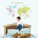 ウォールステッカー 世界地図2 ウォールシール ウォールペーパー インテリアステッカー インテリアシール 世界 地図 世界地図