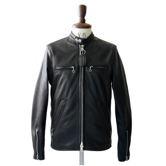 【SALE】【別注モデル】 VANSON バンソン シングルライダースジャケット B (メンズ)
