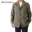 ショッピングトミカ 【予約商品】ANATOMICA アナトミカ チェック ウール ローファージャケット 530-552-09 メンズ