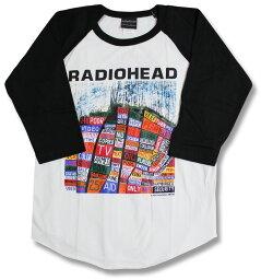 Radiohead <strong>レディオヘッド</strong> 七分袖シャツ ラグランTシャツ 七分袖 7分袖 長袖 ベースボールシャツ バンドTシャツ ロックTシャツ Rock band T-SHIRTS メンズ レディース ロックファッション 特価