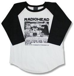 Radiohead <strong>レディオヘッド</strong> ラグランTシャツ バンドTシャツ ロックTシャツ Rock band T-SHIRTS メンズ レディース ロックファッション 七分袖 7分袖 長袖 メール便OK