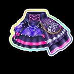 【中古品】アイカツスターズ 星のツバサ 2弾 SPR ロックマイハートスカート S2-23