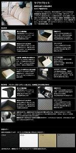 ベンチシート風コンソールボックス&背もたれセット「ラブラブセット」ベンチは大きな収納ボックス、背もたれはワイドアームレストになります。[ウォークスルー][収納][レザー][シートカバー]