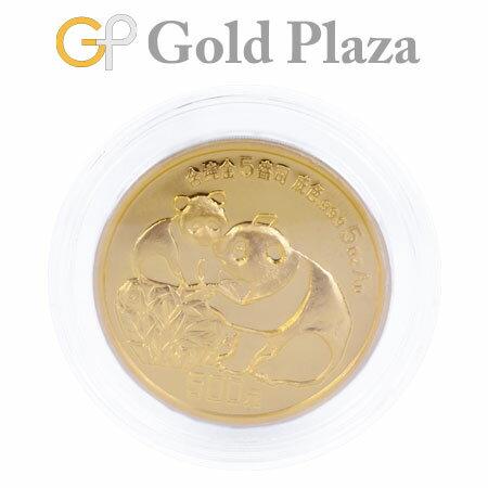 パンダ 金貨 コイン 5オンス(約155.7g) 純金 500元 1987年 中華人民共和国(中国) ケース付 熊猫金貨幣 コレクターズアイテム