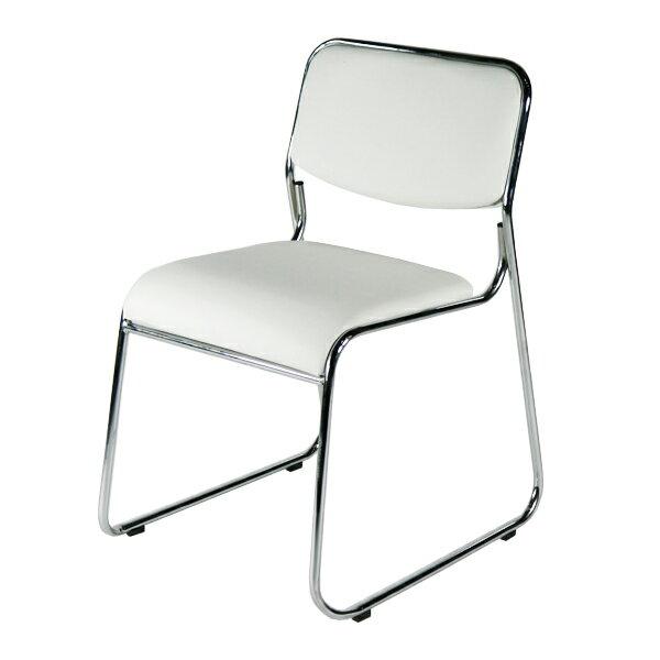 送料無料 新品 ミーティングチェア 会議イス 会議椅子 スタッキングチェア パイプチェア パイプイス パイプ椅子 スノーホワイト