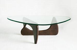 ■送料無料■新品イサムノグチセンターテーブル■ノグチテーブル19mm強化ガラス■ウォールナット