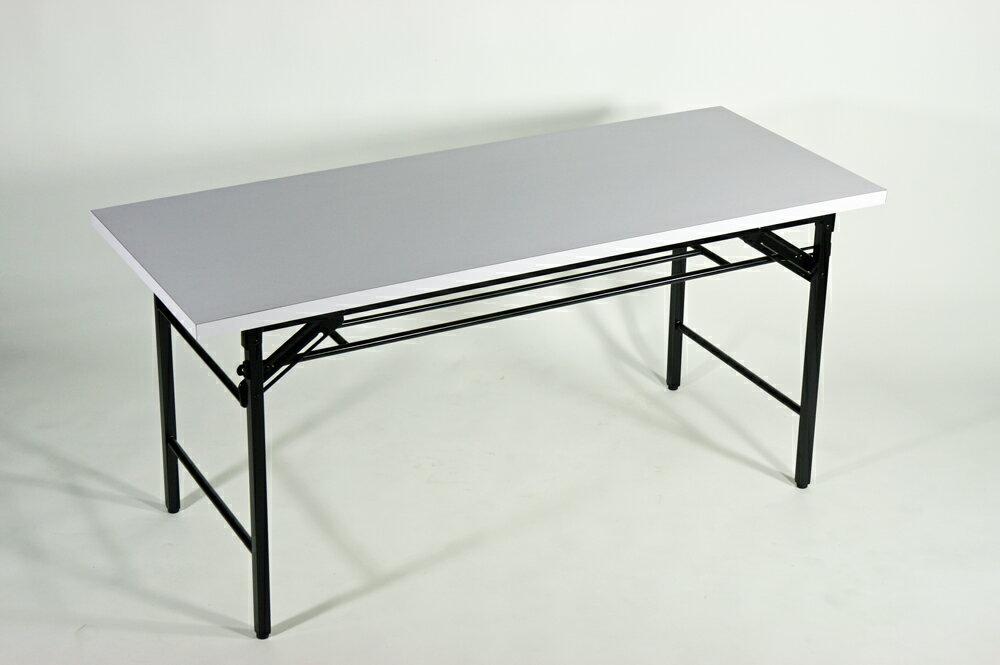 ■棚付■折りたたみ 折畳み 座卓テーブル 座卓 長机 会議テーブル 会議用テーブル 高脚 ミーティングテーブル■7651MB-WH■150x60x70cm